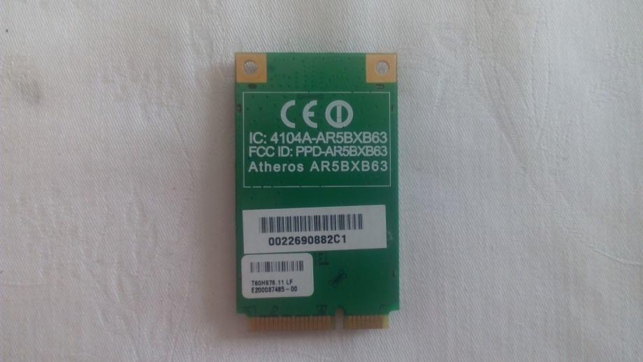 Atheros Wifi mrežna kartica za laptop Mini PCI-e, PN ar5bxb63