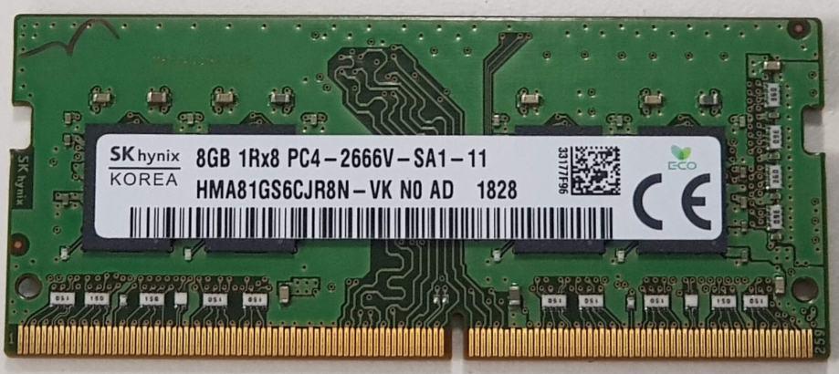 Hynix So-Dimm Ram 8GB 1x DDR4-2666 PC4-21300 | Novo | Orig. | R1 Rač.