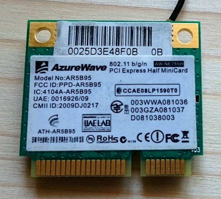 P/M: AzureWave wireless card za laptop