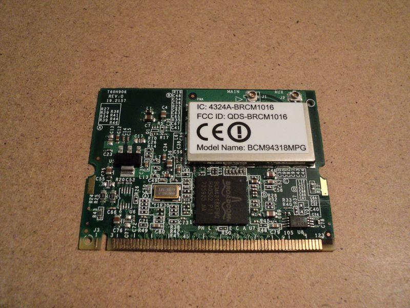 Broadcom Wireless 4318E - NOVO