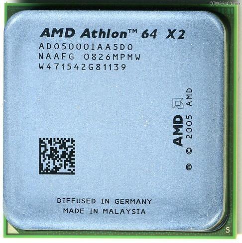 AMD Athlon 64 x2 5000+ Dual-Core (2x 2.6GHz ) 65W TDP Socket AM2