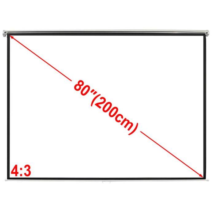 Projekcijsko platno 160 x 123 cm, Stropno, Matirano bijelo, 4:3 - NOVO