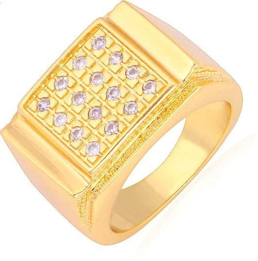 Luksuzni muški prsten 18K zlato s cirkonima!