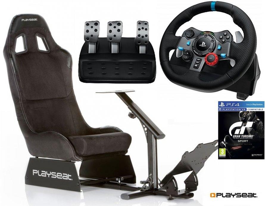 Playseat Alcantara+volan Logitech G29+Gran Turismo,novo u trgovini,rač