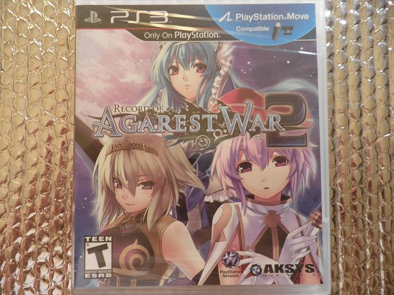 ps3 record of agarest war 2 ps3 NOVO...NOVO