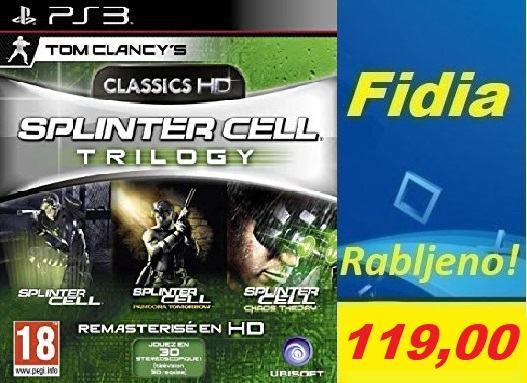 Splinter Cell trilogy : Splinter cell + Chaos theory + Pandora tomorro