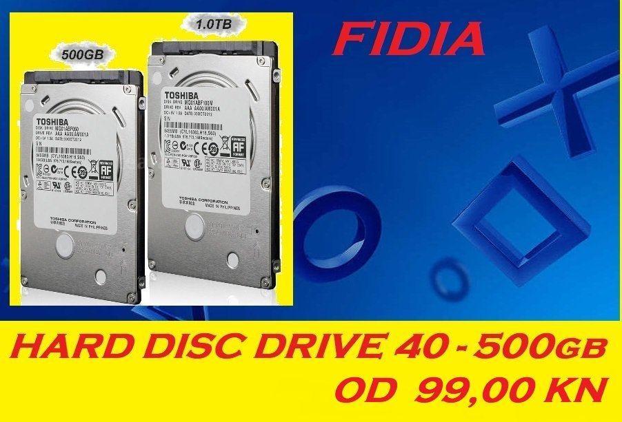 ⭐️⭐️ PS3 HARD DISC HDD 500 gb + KUĆIŠTE - 299,00⭐️⭐️