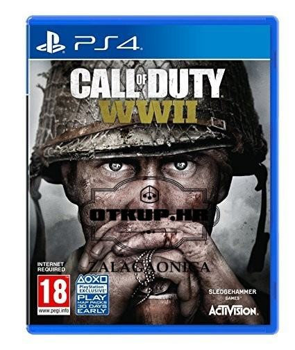 PS4 IGRA CALL OD DUTY WWII /  R1, RATE !!