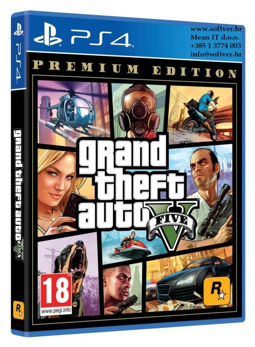 PS4 igra GTA V Premium Edition | Novo | Original | Račun