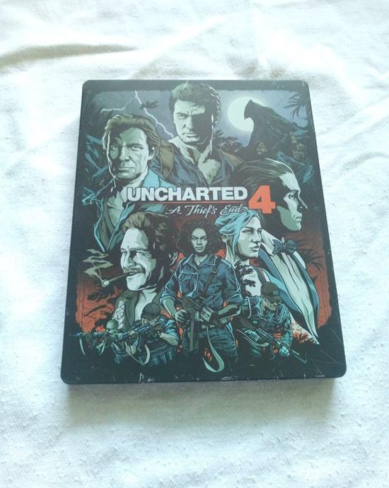 Uncharted 4 PS4 igra metalna kutija specijalna edicija