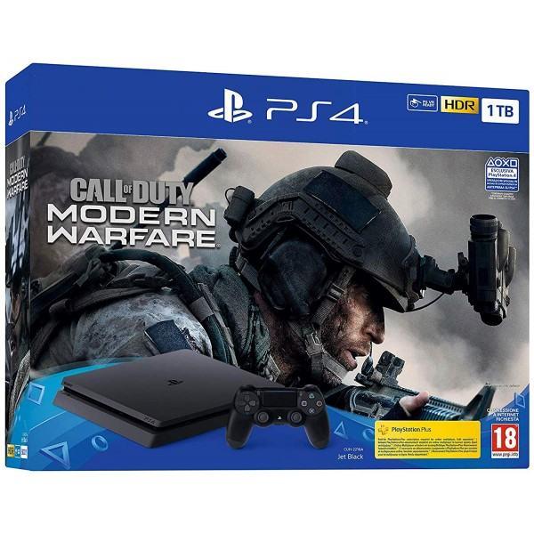 PlayStation 4 1TB F chassis + COD: Modern Warfare,novo u trg,račun,gar