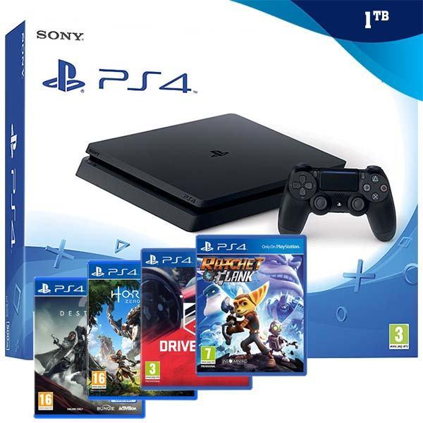 PlayStation 4 1TB Slim (PS4) + POKLON 3 IGRE,NOVO!