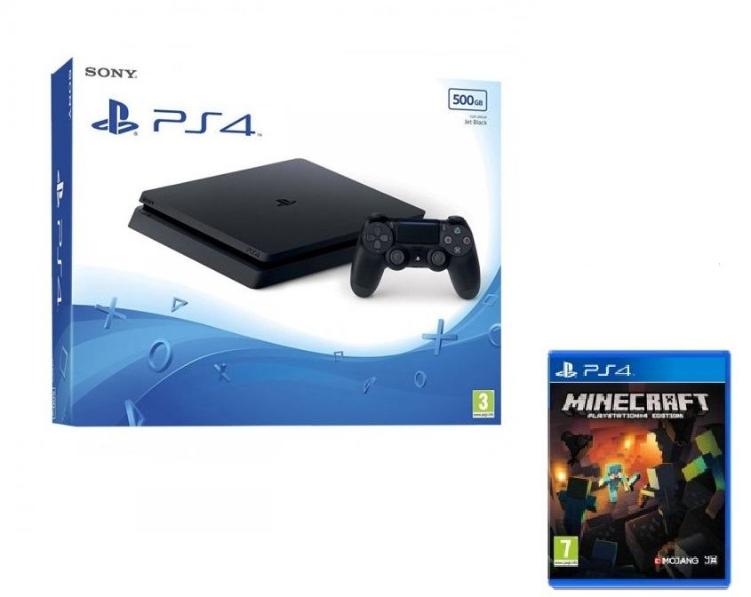 PlayStation 4 500GB Slim +Minecraft ,novo u trgovini,račun i gar 1 god