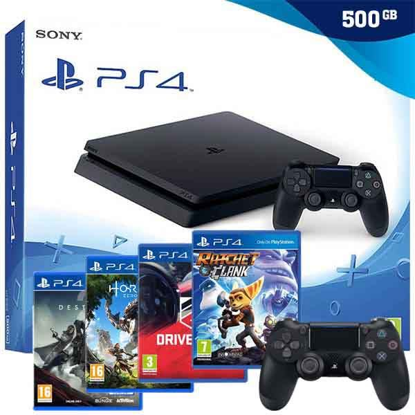 PlayStation 4 500GB Slim (PS4) + POKLON 2 IGRE,NOVO,AKCIJA!