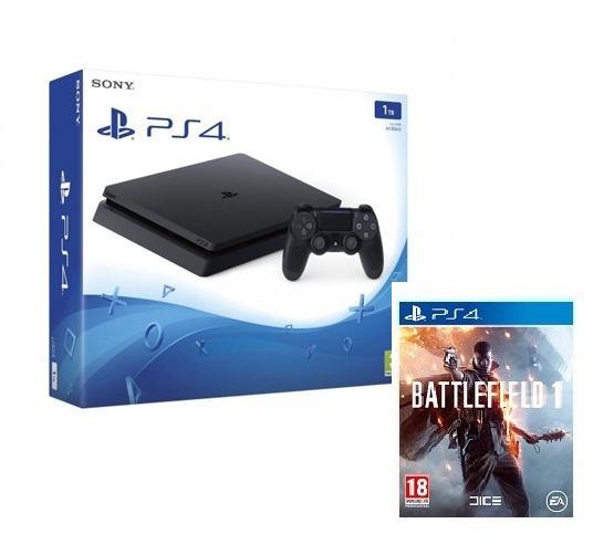 PS4 1 TB + Battlefield 1,novo u trgovini,račun i garancija 1 godina