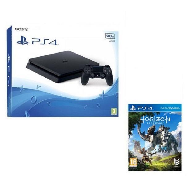 PS4 500 GB Slim + Horizon:Zero Dawn,novo u trgovini,račun,gar 1 god