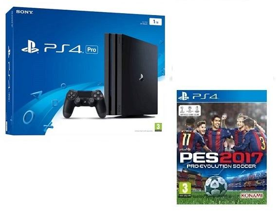 PS4 Pro 1TB + PES 2017,novo u trgovini,račun, garancija  1 godina
