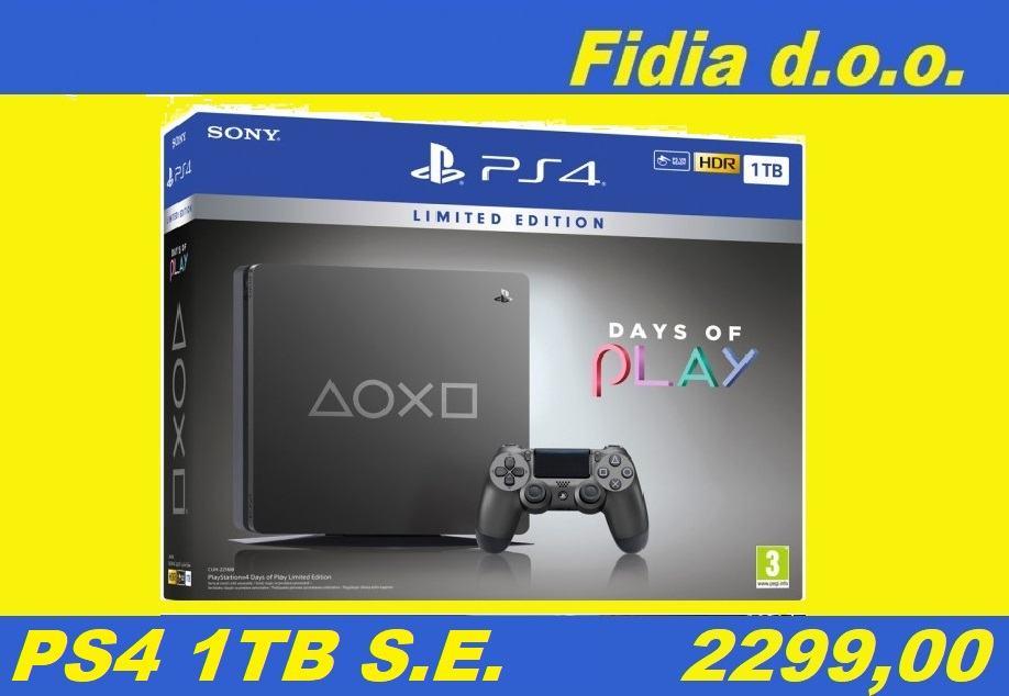 ⭐️⭐️ PS4 Slim 1TB Steel Black Special Edition - Novo !!! ⭐️⭐️