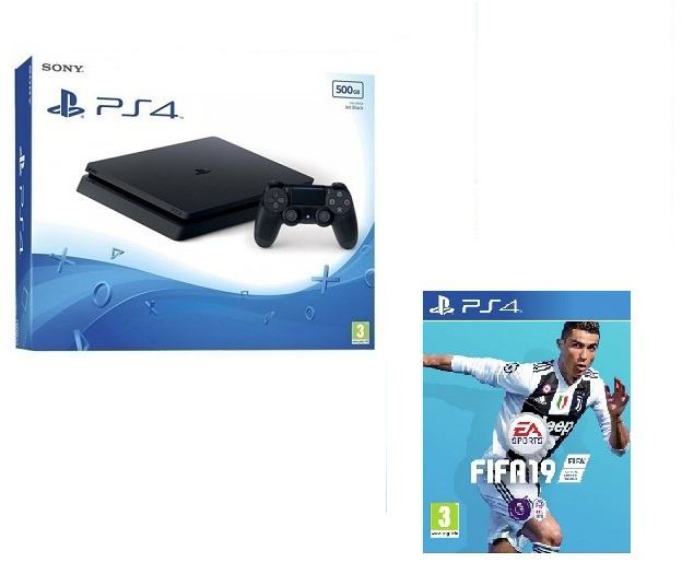 PS4 Slim 500 GB +FIFA 19 + PS Plus 14 dana,novo u trgovini,račun