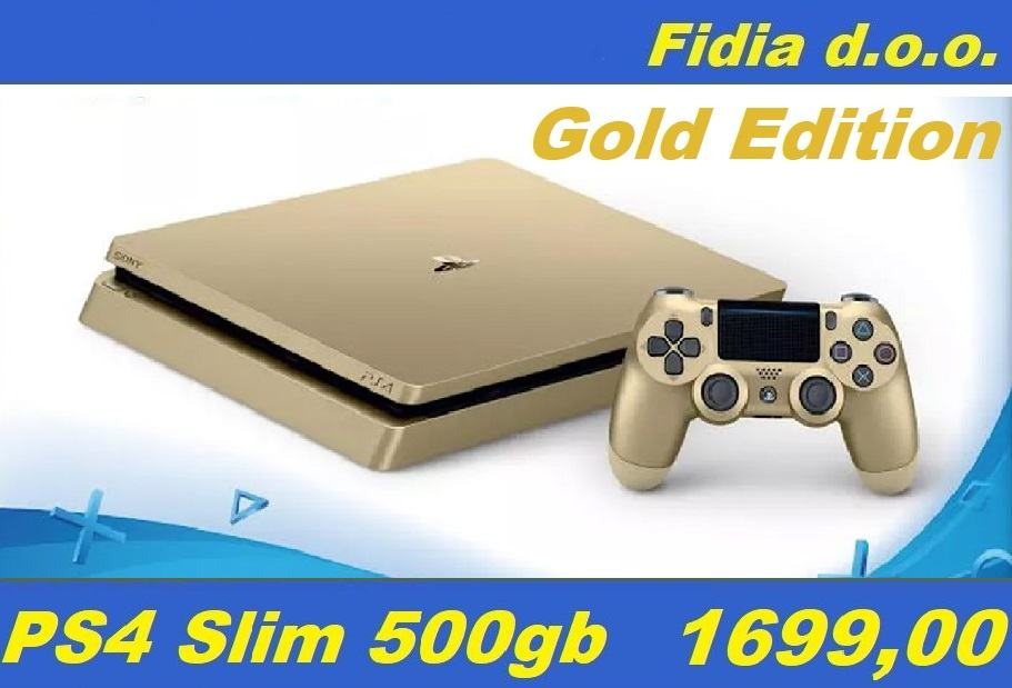 ⭐️⭐️ PS4 slim 500Gb Gold Edition - rabljeno !!! ⭐️⭐️