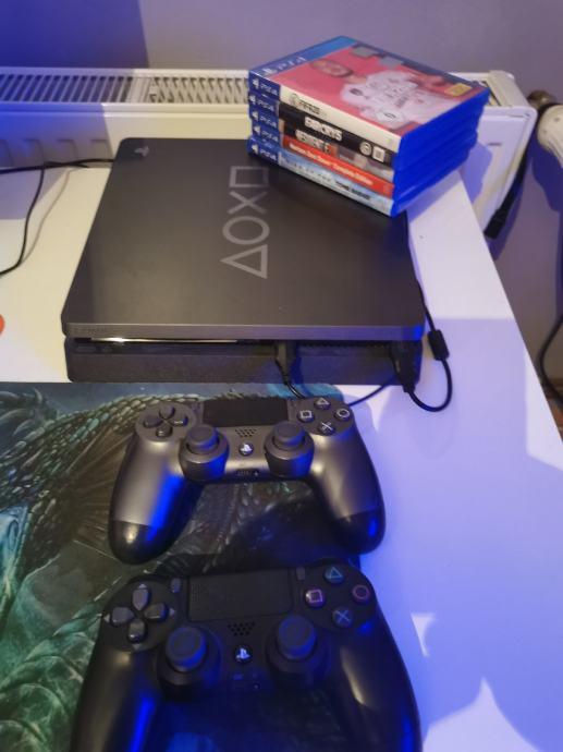 PS4 Slim Limited Editon, 2 kontrolera i 5 igrica