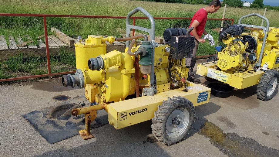 Pumpa za vodu centrifugalna sa diesel motorom, usis 50 lit/sek