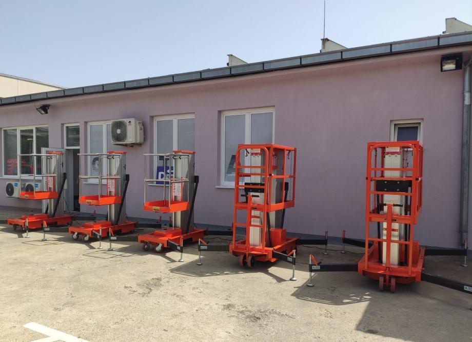 Mobilna aluminijska radna platforma 8m 130kg
