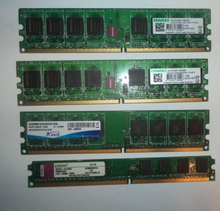 1GB DDR2 800 Mhz PC2-6400 RAM Kingmax, Kingston, Samsung...moduli