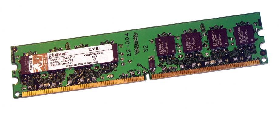 1GB Kingston KVR800D2N5/1G DDR2 800mhz DIMM