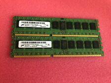 2x4GB(8GB) Micron PC3L-10600 1333mhz ECC DDR3 DIMM
