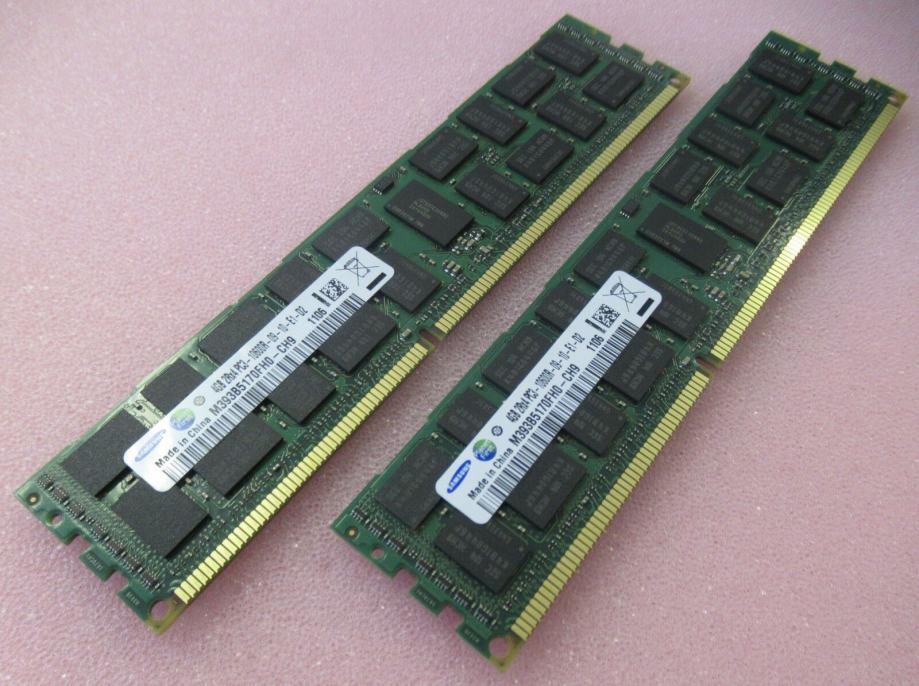 2x4GB(8GB) SAMSUNG M393B5170FH0-CH9 PC3-10600 1333mhz ECC DDR3 DIMM