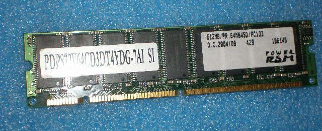512MB POWER RAM PC133 2strani 64M64SD