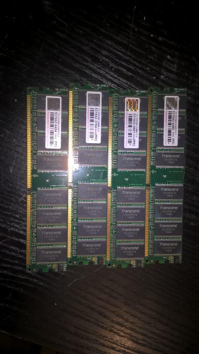 DDR 1 Memorija Transcend ili Kingston 4x 1GB DDR PC400