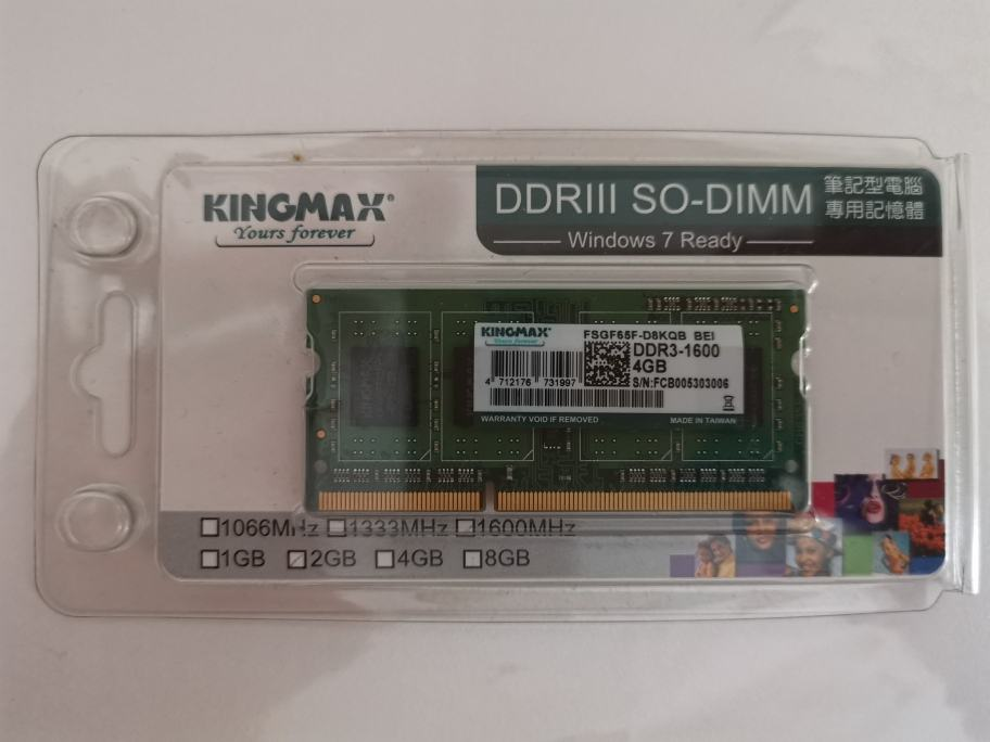 Kingmax SO-DIMM RAM za Laptope DDR3 4gb 1600 mhz | Novo | Račun R1