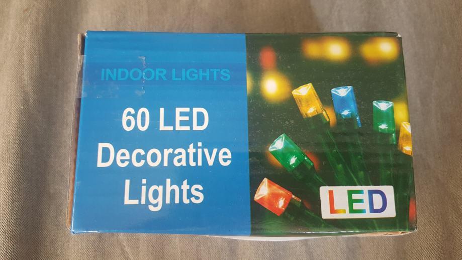 LED svijećice žarulje za božićni i novogodišnji bor jelku 60 Plava