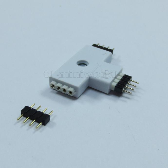 T RAZDJELNIK ZA LED TRAKE 4 Pin Ženski konektor za RGB 5050 3528 itd.