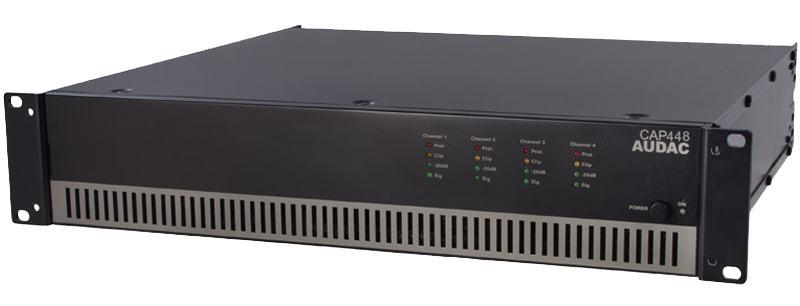 AUDAC CAP448 - instalacijsko pojačalo snage 4 x 480W 100V