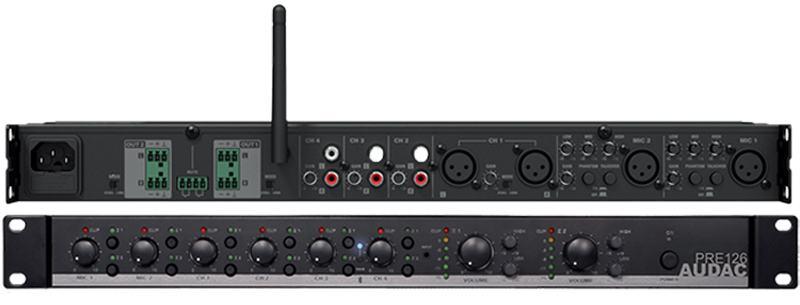 AUDAC PRE126 - dvozonsko 6-kanalno stereo pretpojačalo