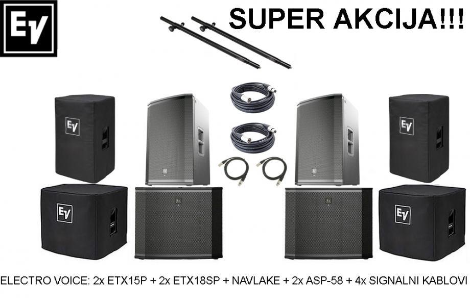 Electro Voice ETX-15P + ETX-18SP + pribor - SUPER AKCIJA!!!