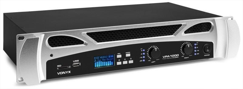 Tronios Vonyx VPA1000 PA AMPLIFIER 2x 500W MEDIA PLAYER WITH BT