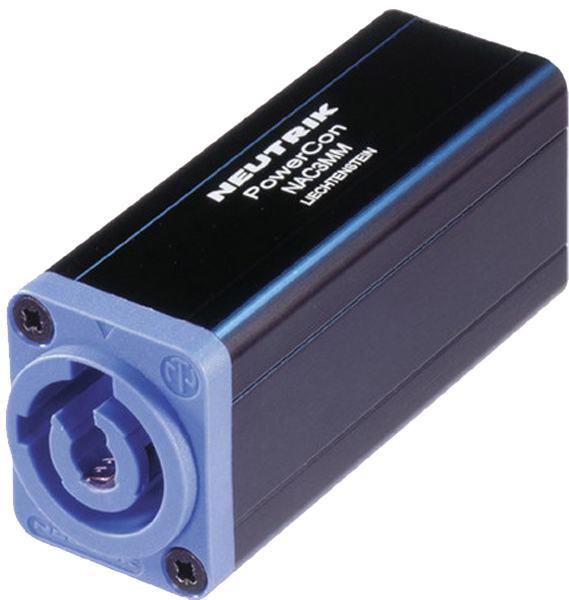 Neutrik NAC3MM 3-pin Powercon Inlet to Outlet spojnica