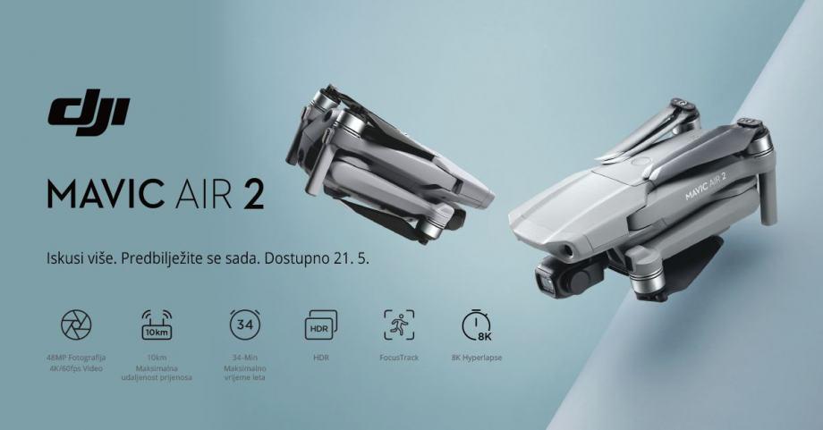 DJI Mavic Air 2! R1 Račun/Jamstvo 2 Godine/Besplatna Dostava