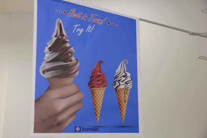 reklamna zastava točeni sladoled