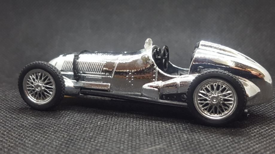 100 years 1886/1986 Chrome Mercedes W125 diecast car Brumm