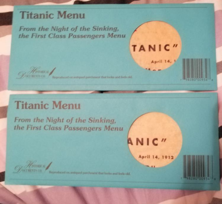 Menu s Titanica