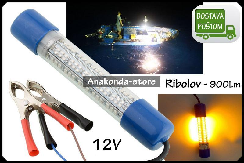 LED Lampa za Lov na Ribu Podvodno Žuto Svijetlo Ribolov 900Lm ★RAČUN★