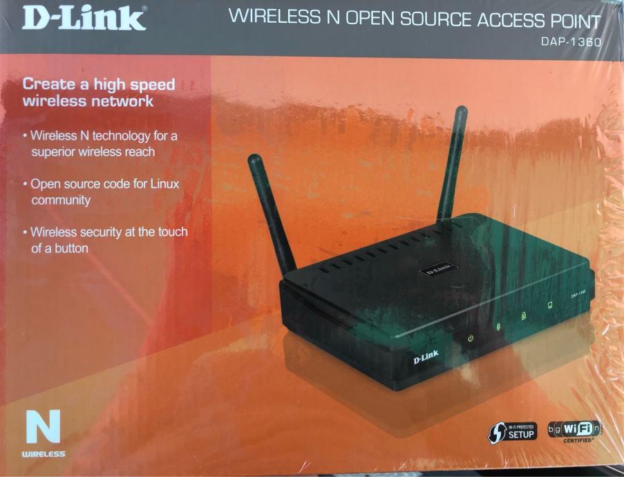 D-Link, DAP-1360, Wireless N Open Source Access Point