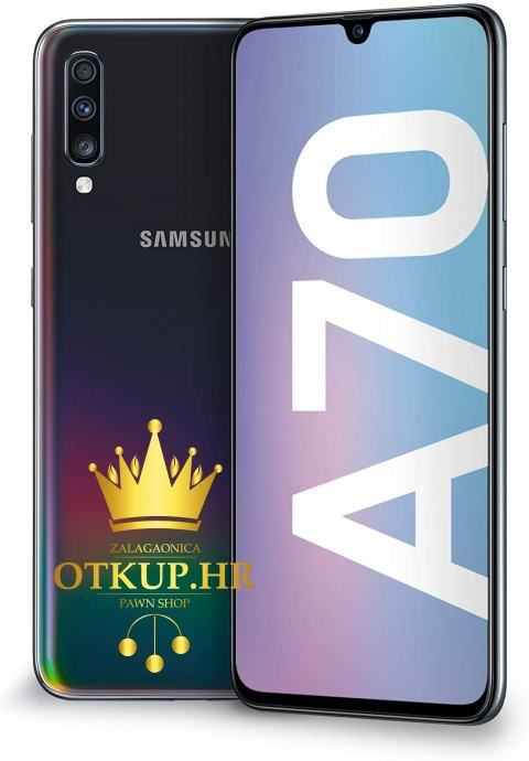 SAMSUNG GALAXY A70 DUAL SIM, 128 GB, BLACK - NOVO!! / R1, RATE !!