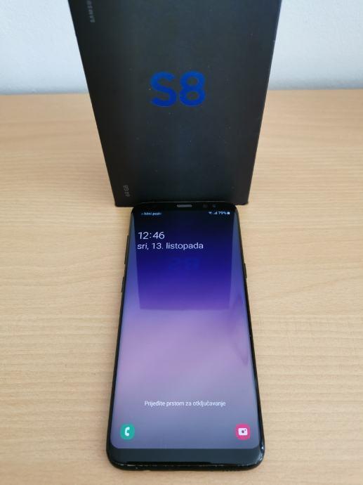 SAMSUNG GALAXY S8 BLACK 64GB★POVOLJNO I MASKICA!!!