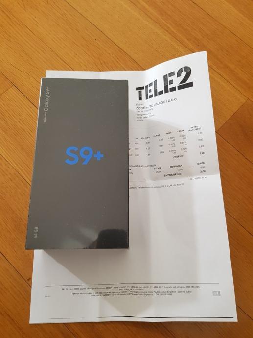 Samsung galaxy s9 plus 64 gb i 6gb rama crni s računom